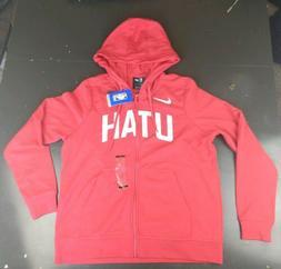 Women's Nwt Utah Jazz Red Hoodie Jacket Size L Sweater Zip U